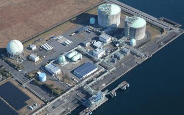 上空から見た植物工場